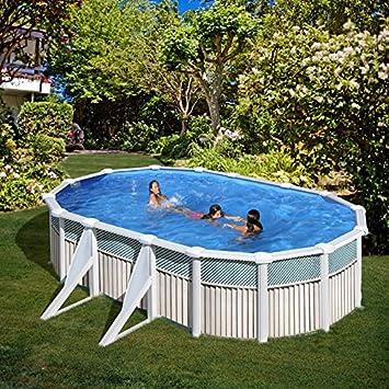 San Marina Pools - Piscina De Chapa Capri 610 X 375 X 120 Cm + Depuradora De Arena: Amazon.es: Jardín