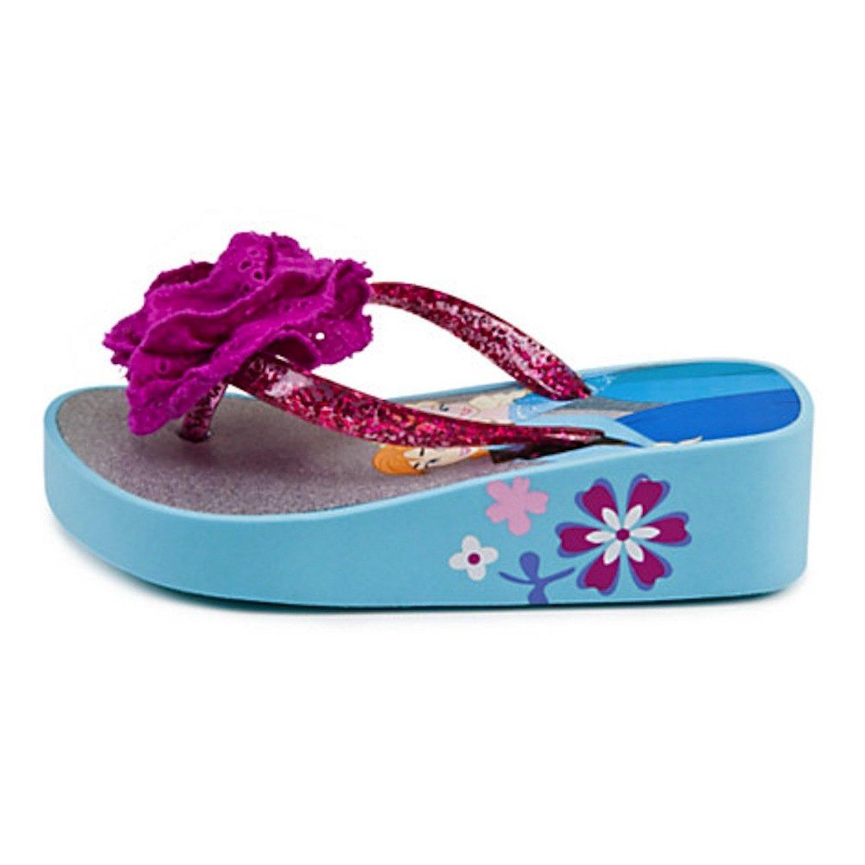 Disney Store Frozen Princess Elsa//Anna Platform Flip-Flops Size Small 11//12