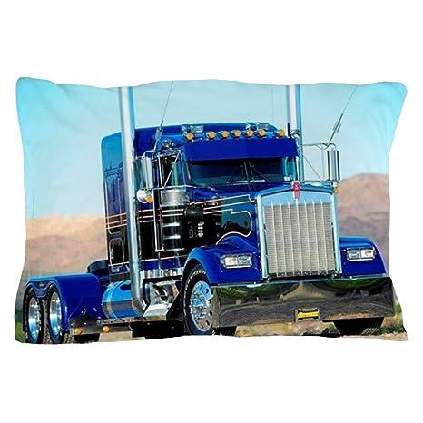 Amazon.com: CafePress – azul y negro – Funda de almohada de ...