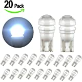 20Pcs Super Bright 194 168 2825 175 LED Light Bulbs, YANF Car Replacement Interior Light for Dome Map Door Courtesy License Plate Lights Miniature T10 SMD Wedge Bulbs - Xenon White