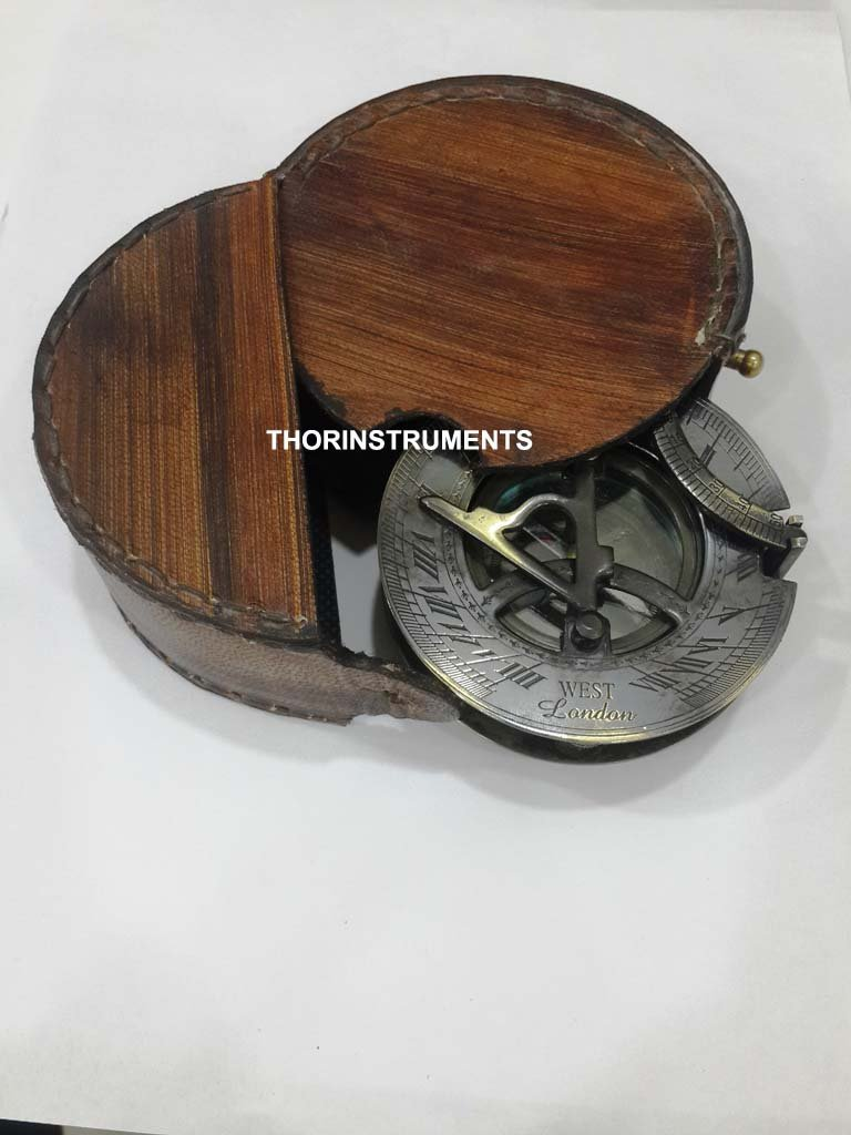 THORINSTRUMENTS (with device) ANTIQUE BRONZE NAUTICAL SUNDIAL COMPASS WEST LONDON