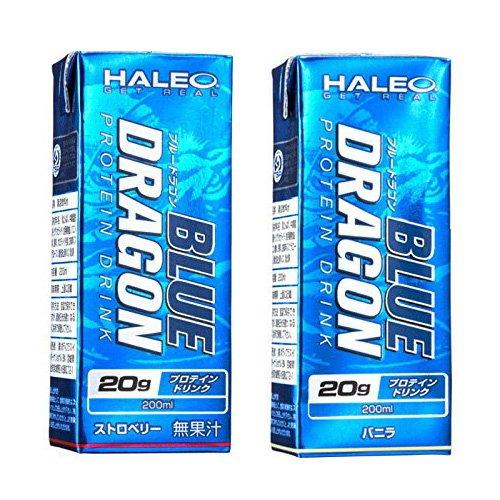 HALEO ブルードラゴン BLUE DRAGON プロテイン ドリンク スロべリー24本&バニラ24本 (計48本) B07BLNRYXV