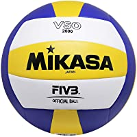 Mikasa Vso2000 Sentetik Deri Voleybol Topu, Unisex, Sarı / Mavi / Beyaz, 5