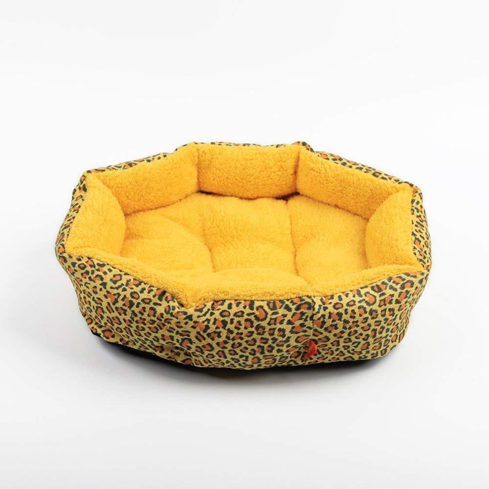 3 L 58×49×14cm 3 L 58×49×14cm Pet Bed colorful Leopard Print Dog Cave Bed Pet Cat Bed for Pet Cat and Dog Bed (color   003, Size   L 58×49×14cm)