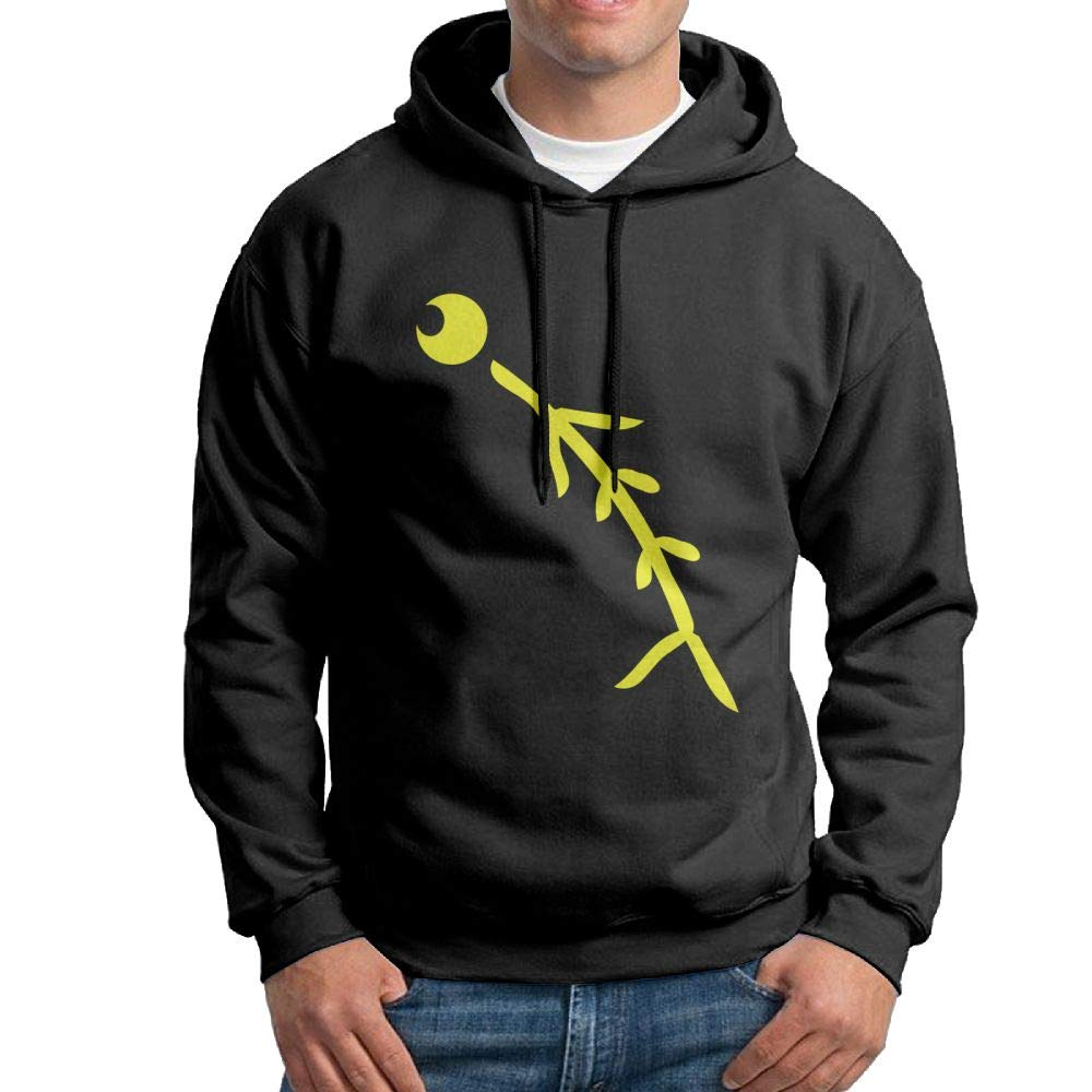 Arsmt Hooded Sweatshirt Mens Casual Pullover Fleece Hoodie Funny Fish Bone