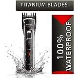 Nova NHT - 1020 100% Waterproof Rechargeable Cordless Beard Trimmer for Men (Black)