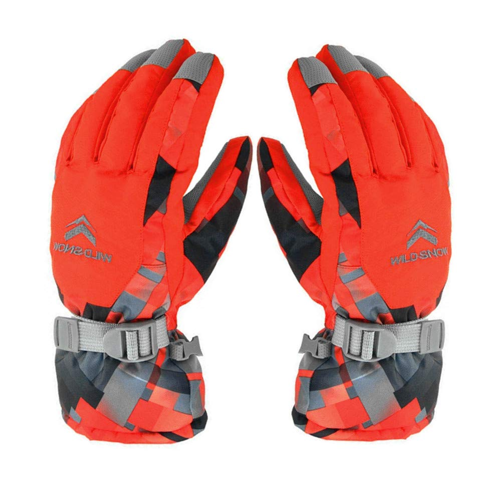 Ski Gloves, Winter Warmest Waterproof Snow Snowboard Gloves for Men Women Boys Girls Kids