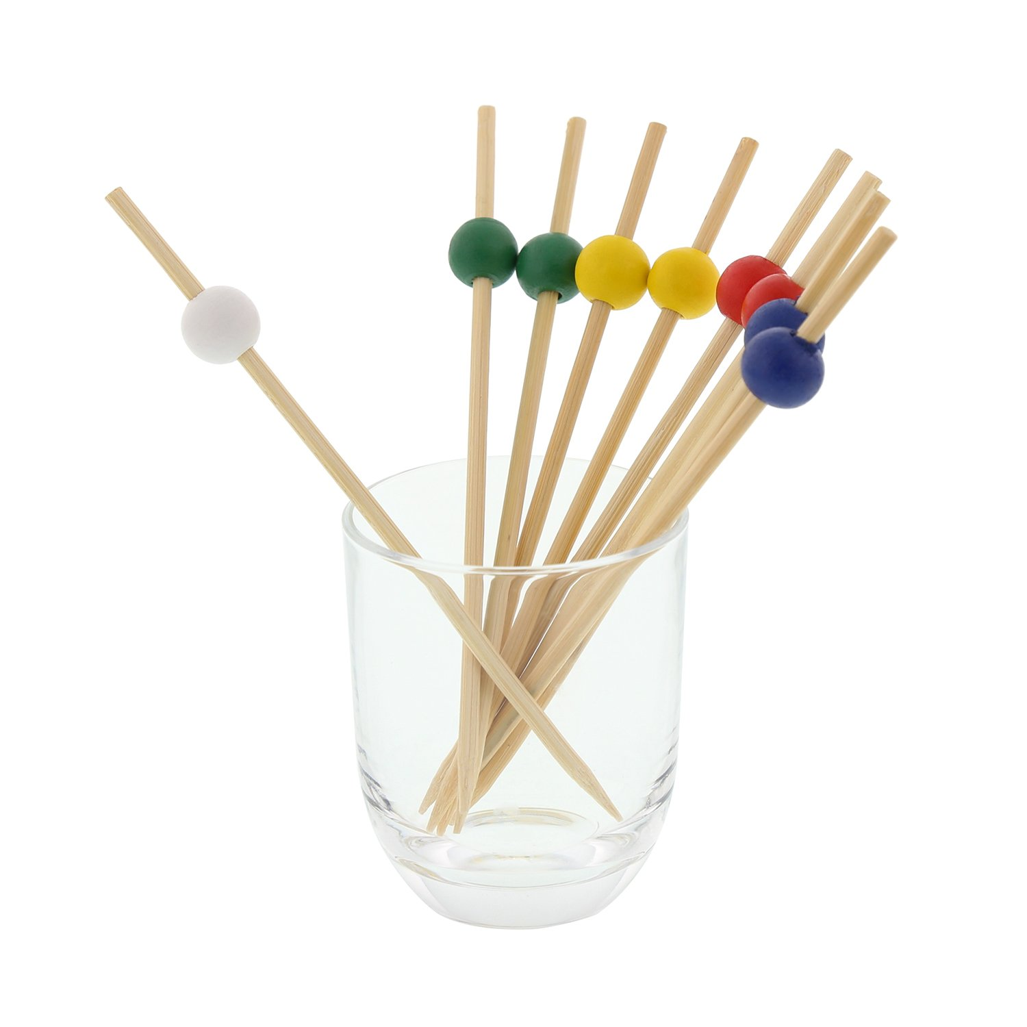 Royal 4.75'' Assorted Bamboo Ball Picks, Package of 1000