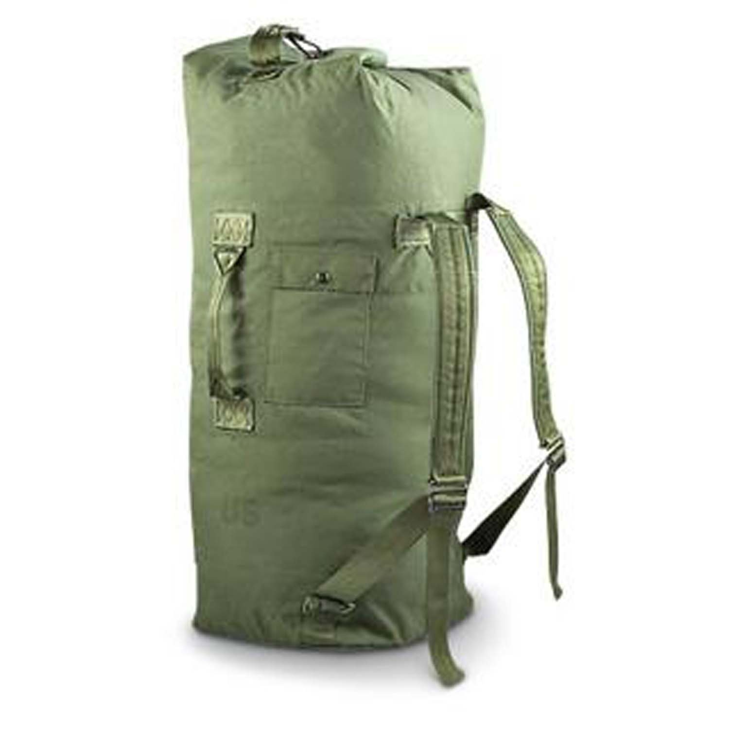 Military Outdoor Clothing Previously Issued Government Olive Drab Cordura 2 Strap Duffle Bag