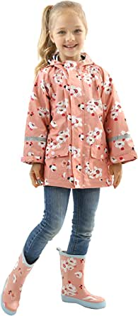 Toddler Rain Jacket Girls Boys Double Raincoat Waterproof Hooded Waterproof Hooded Jackets