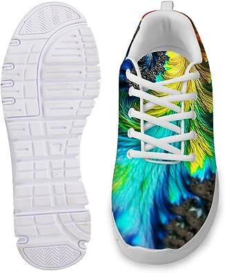 AXGM Zapatillas de Correr para Hombre, Zapatillas de Deporte para Caminar, Zapatos de Colores degradados, Estampado de Muelle, Modernas, Transpirables: Amazon.es: Zapatos y complementos