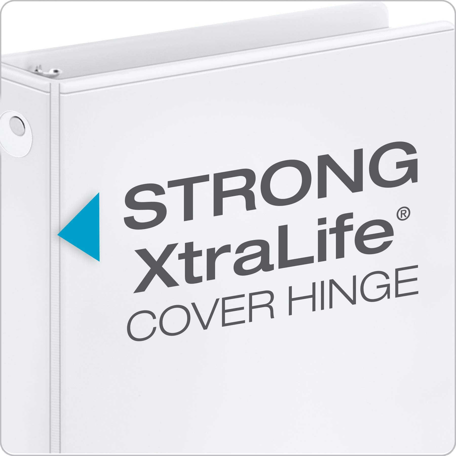 Cardinal Economy 3-Ring Binders, 3'', Round Rings, Holds 625 Sheets, ClearVue Presentation View, Non-Stick, White, Carton of 12 (90651) by Cardinal (Image #3)