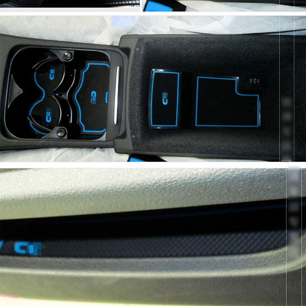 Muchkey Rutschfest Auto Innent/ür-Schalen-Matten Arm Box Aufbewahrungsmatte Pad f/ür 2010-2016 Passat CC Anti-Staub- T/ür-Slot-Pad Cup Mat 5 St/ück pro Satz Rot