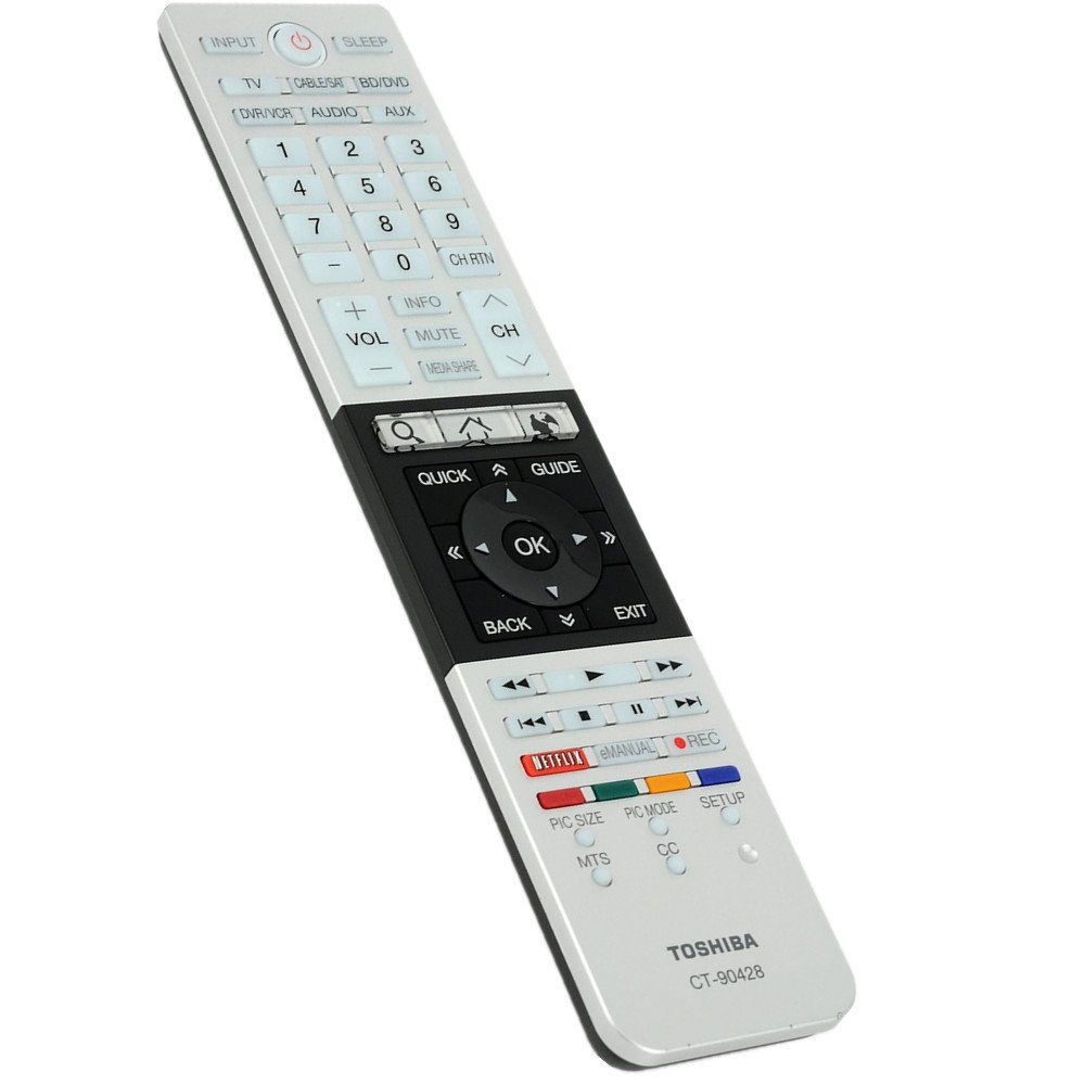 Amazon.com: TOSHIBA CT-90428 Remote Control For Smart Cloud TV: Home Audio  & Theater