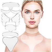 8 Unids/set Parches de Silicona Antiarrugas Reutilizables Ojo Cara Mejilla Pecho Frente Cuello Almohadillas Antiarrugas…