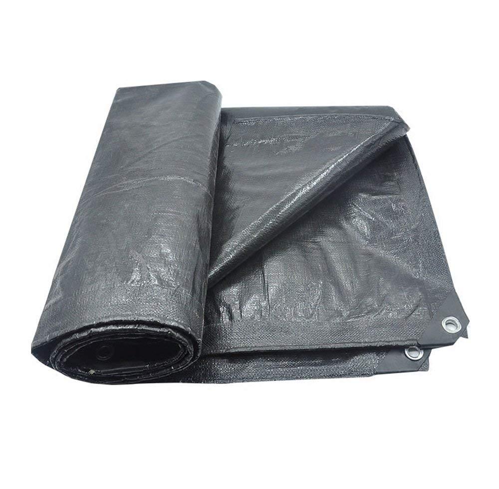 JKL Tenda da Campeggio Esterna Copertura Doppia Telo Impermeabile in polietilene Tenda Impermeabile al 100% - 180 g m², Spessore 0,35 mm, Grigio, 12 Dimensioni opzionali (Dimensioni   3x3m)