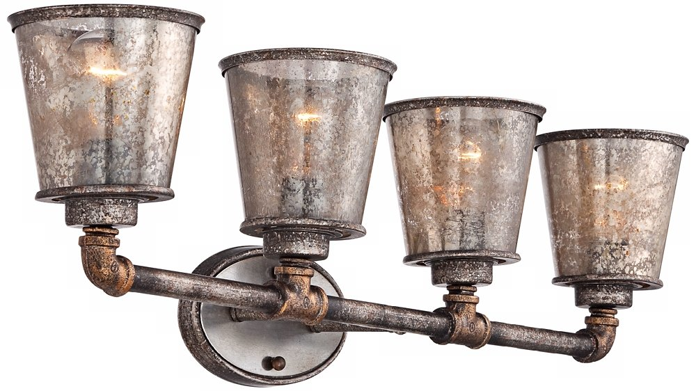 Fillmore 31 3/4'' Wide Industrial Rust Bathroom Light by Franklin Iron Works (Image #5)