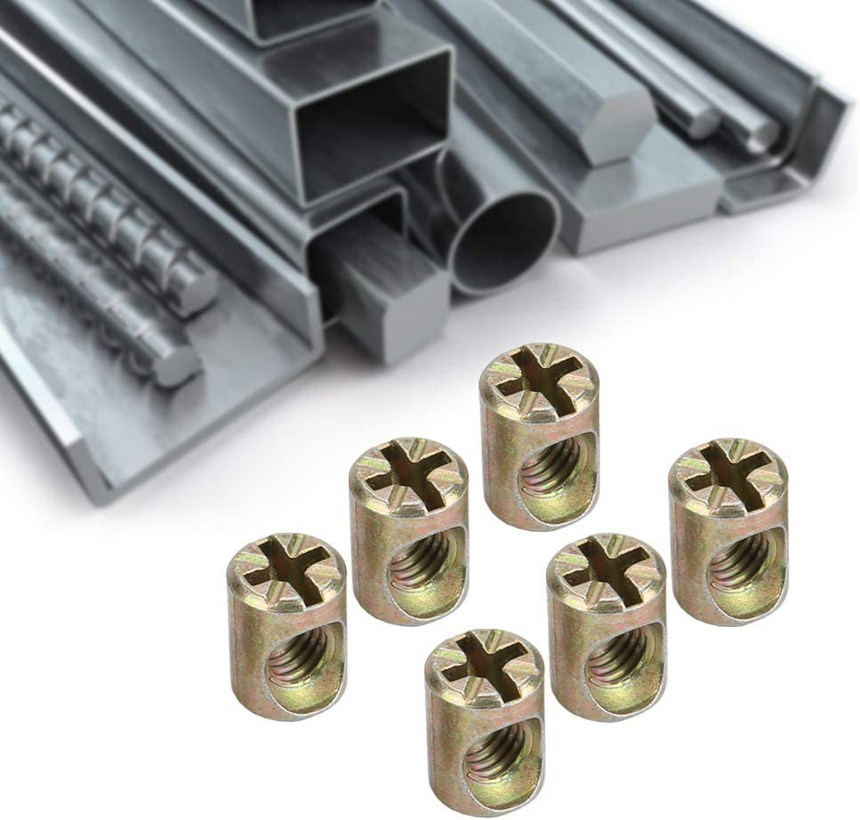 Convenient to Carry and Use Cabinet Fixing Nut Wardrobes Exhibition Cabinets Junluck Small Size Connector Nut Sturdy for Cabinets