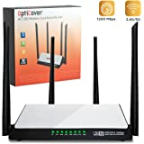 [UPGRADED 2018] Wifi Router AC1200 Mbps - High-Speed Dual Band 2.4/5Ghz Gigabit Wireless Router for Internet Comcast Xfinity with Extra Long Range, 4 Lan ports for Home Office Gaming 4k