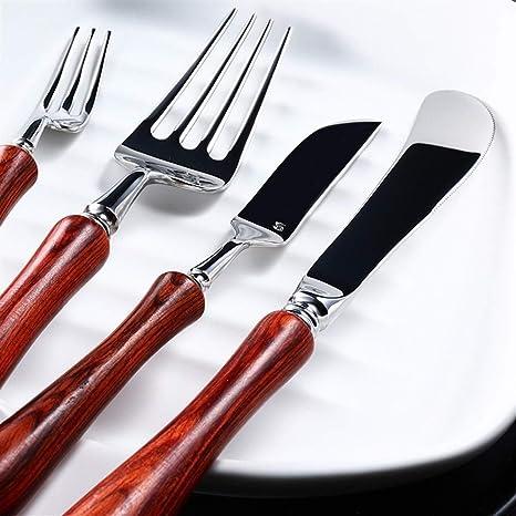 Compra FELICIOO Cuchillo y Tenedor Cuchara 6 Juegos ...