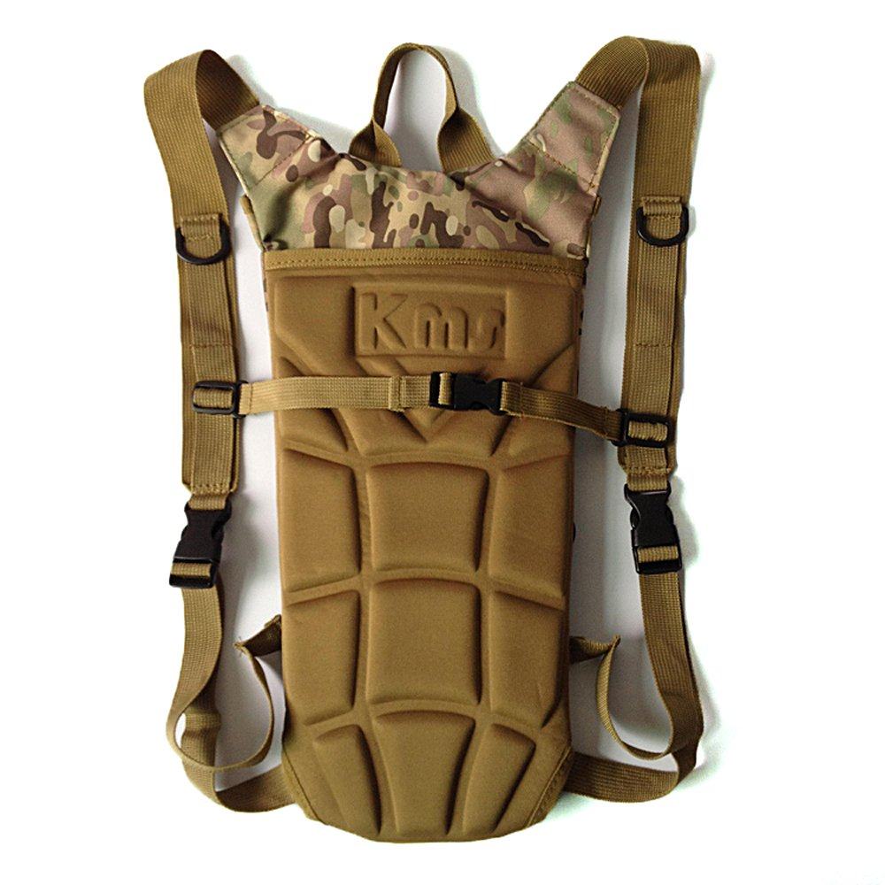 Pockets For Bicycle Hiking Climbing Camping Running Hydration Bladder-- Forepin/® High Quality 3L Hydration Pack Water Rucksack Water Bladder Khaki