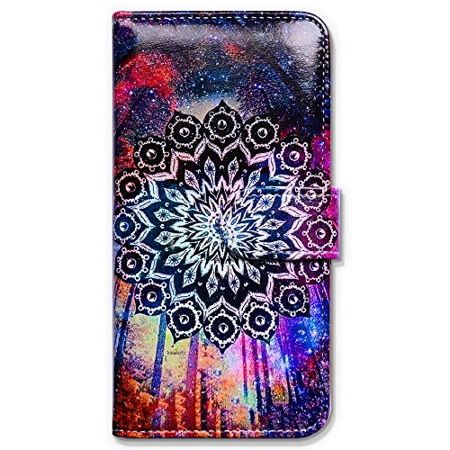 iPhone 6s Plus Case, Bfun Packing Bcov Colorful Mandala Sky Wallet Leather Cover Case For iPhone 6 Plus/6S Plus