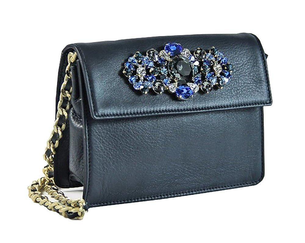 Borsa Collezione Argento Antico by Laino Industry fashion accessories -  Pochette in pelle con accessorio gioiello  Amazon.it  Scarpe e borse b995e727df3