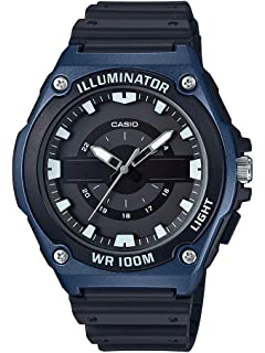 Casio Mens Quartz Watch with Resin Strap, Black, 17.65 (Model: MWC-