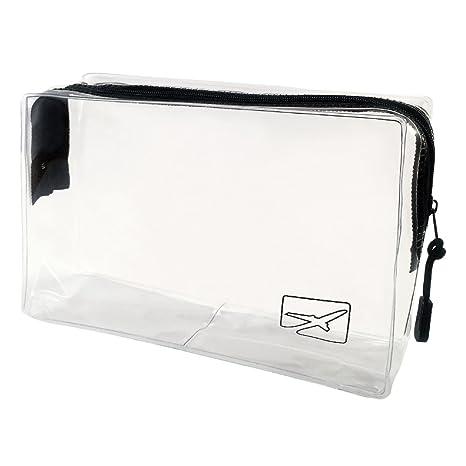 Neceser de viaje para equipaje de mano - Ideal para llevar maquillaje y líquidos - Transparente