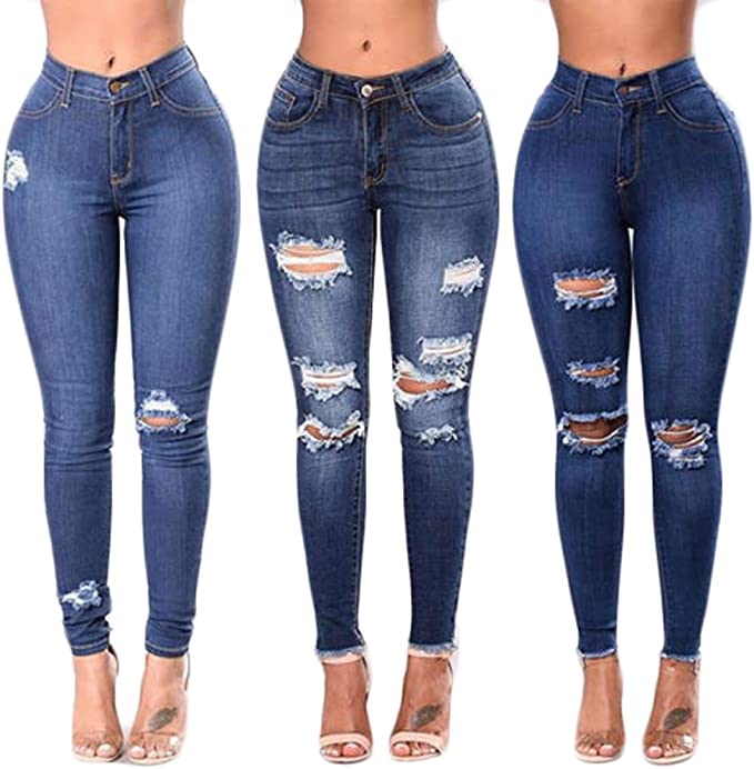 the cheapest affordable price official Amazon.com: One sixth Teen Girls High Waisted Ripped Jeans Hight ...
