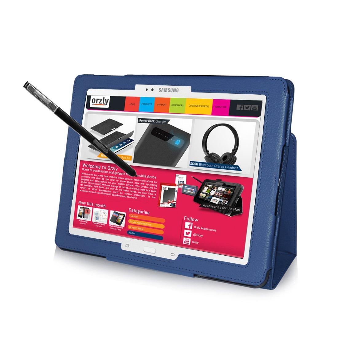 2014 SM-P9000 Mod/èle 2014 PropUp Stand Case Cover // Couverture pour SAMSUNG GALAXY NOTE PRO 12,2 Pouces Tablet Housse // Etui BLEU avec Support int/égr/é ORZLY/® GALAXY NotePRO 12.2