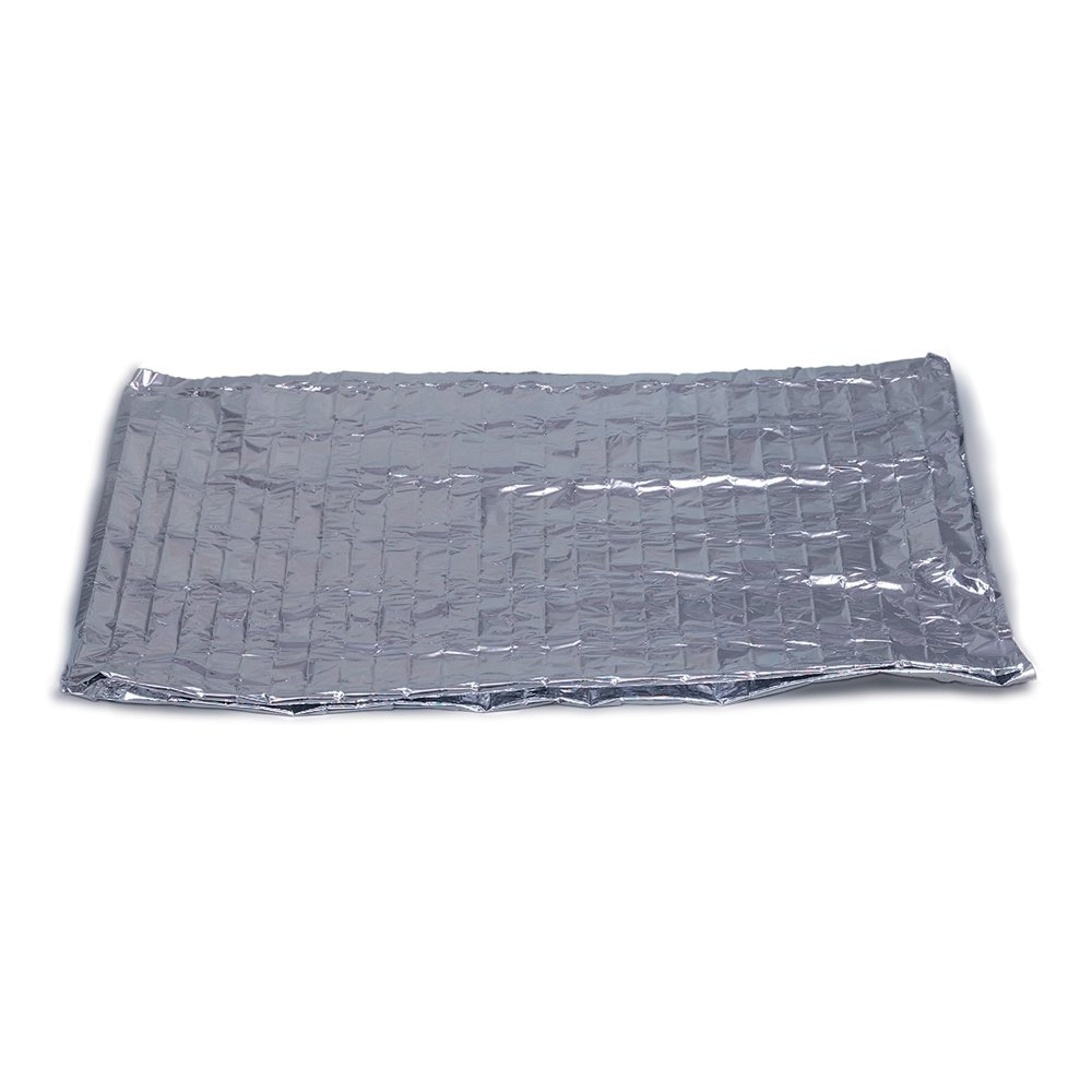 DMI Space Emergency Heat-Conserving Rescue Blanket, Windproof, Waterproof, Reflective and Lightweight, Life-Saving Warmth that Fits in a Pocket, Silver Mabis Healthcare CA 650-1113-0600