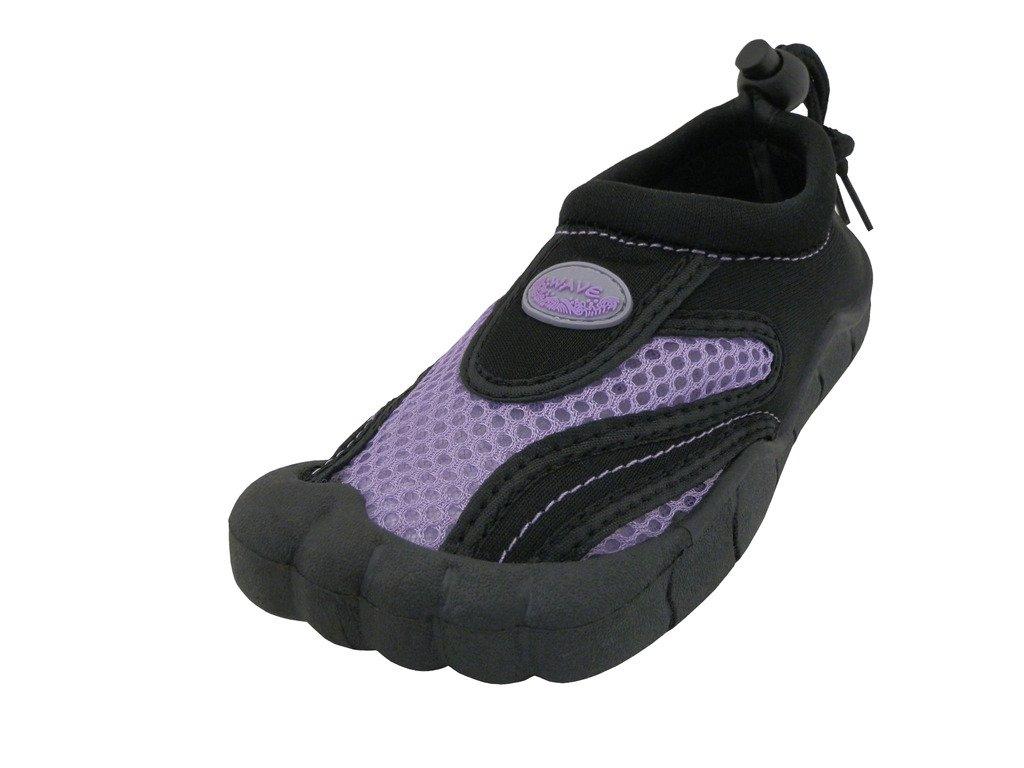 Women's Wave Water Shoes Pool Beach Aqua Socks 2285L Purple 10 by The Wave (Image #1)