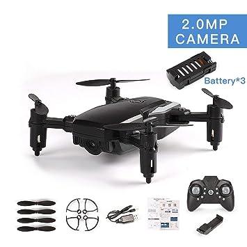LF606 3 baterías Drone con 720P Cámara FPV Quadcopter Plegable RC ...