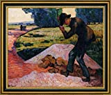 "The Rock Breaker by Armand Guillaumin - 15"" x 19"" Framed Canvas Art Print - Ready to Hang"