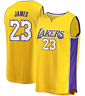 Starjersey Fast Break Lebron Lakers Replica Jersey Yellow - Association Edition … (XXXL)