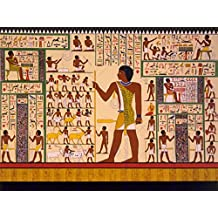 PAINTINGS DRAWING MURAL GIZA TOMB ANCIENT EGYPT HEIROGLYPHIC ART PRINT CC1126