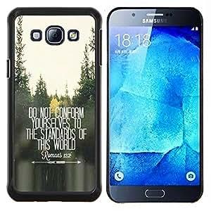 Caucho caso de Shell duro de la cubierta de accesorios de protección BY RAYDREAMMM - Samsung Galaxy A8 A8000 - no se ajustan presupuesto gratuito inspirador