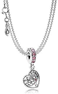 05abf52e4b7f Pandora Kette mit Anhänger Herzen, Silber mit Gold 585 590517-45 ...