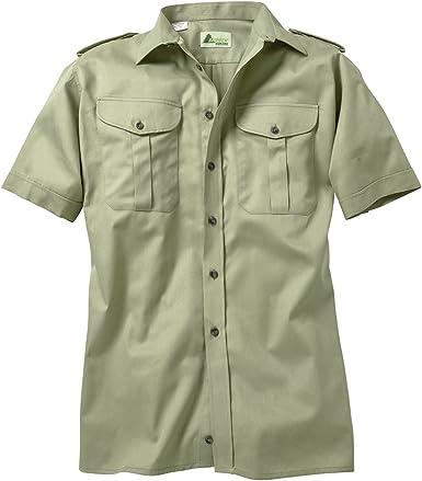 SKOGEN Camisa de Caza caña Verde con Manga Corta Oversize: Amazon.es: Ropa y accesorios