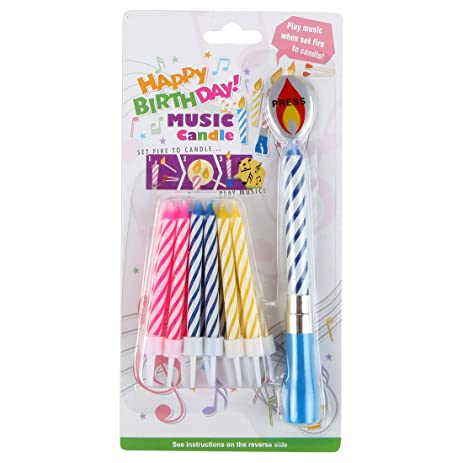 Lilys Home Musical Happy Birthday Singing Party Candle Blue 13 Candles