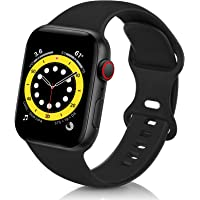ZALAVER Bands Compatible with Apple Watch Band 38mm 40mm 42mm 44mm, Soft Silicone Sport Replacement Band Compatible with…