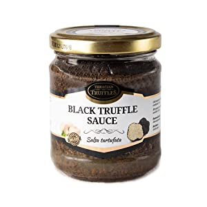 Black Summer Truffle Tuber aestivum Luxury Gourmet Food Sauce Pasta, Ideal for Meat, Grilled Bread, omelets, Pasta, Risotto, Sushi (1 x 170g)