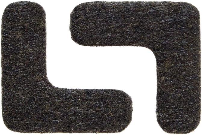 env 16 pi/èces feutre extra durable 3,8 x 3,8 cm Made in Canada Patins angulaires marron; protection pour pieds meubles tables ou chaises adh/ésif autocollant