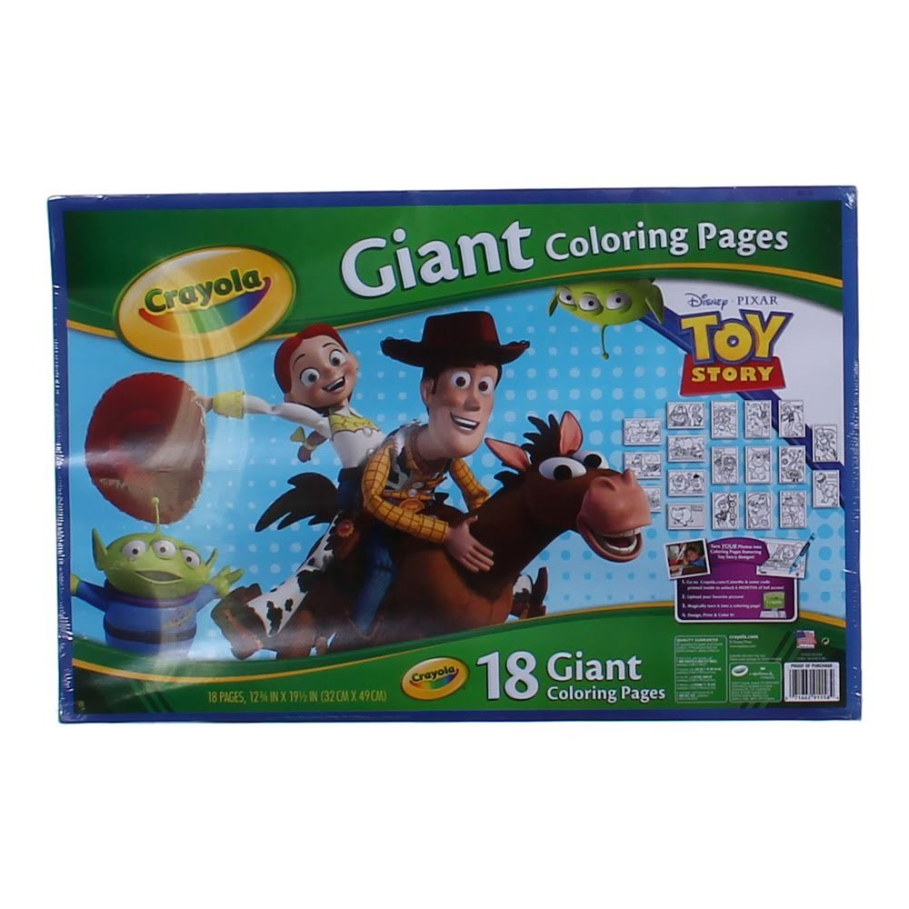 Amazon.com: Crayola Toy Story 3 Giant 20 Coloring Pages: Toys & Games