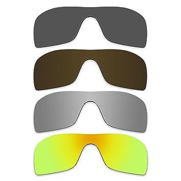 Gafas de sol lentes polarizadas de recambio para Oakley Batwolf Pack de 4 pares P20