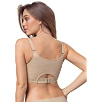 Leonisa Perfect Everyday Posture Corrector Underwire Cami Sports Bra for Women with Back Support