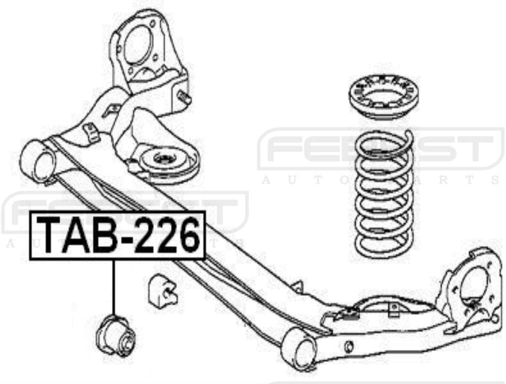 for Rear Control Arm 4872544050 Febest Arm Bushing For Toyota