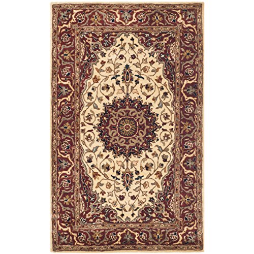 Safavieh Persian Legend Collection PL541B Handmade Traditional Ivory and Rust Wool Area Rug (4' x ()