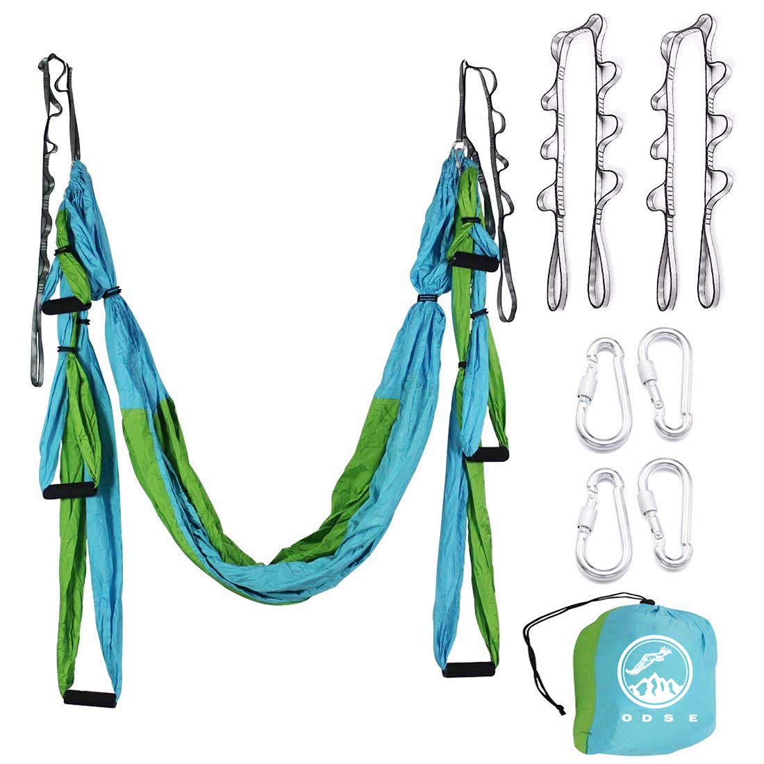 ODSE Aerial Yoga Swing – Ultra Strong Antigravity Yoga Hammock Sling Inversion Tool for Air Yoga Inversion Exercises – 2 Extensions Straps Included